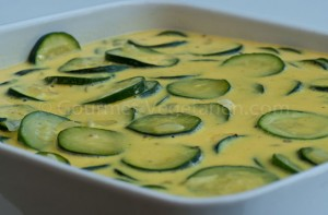 Courgettes oeufs plat